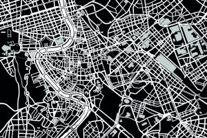 mappa-di-roma-in-bianco-e-nero