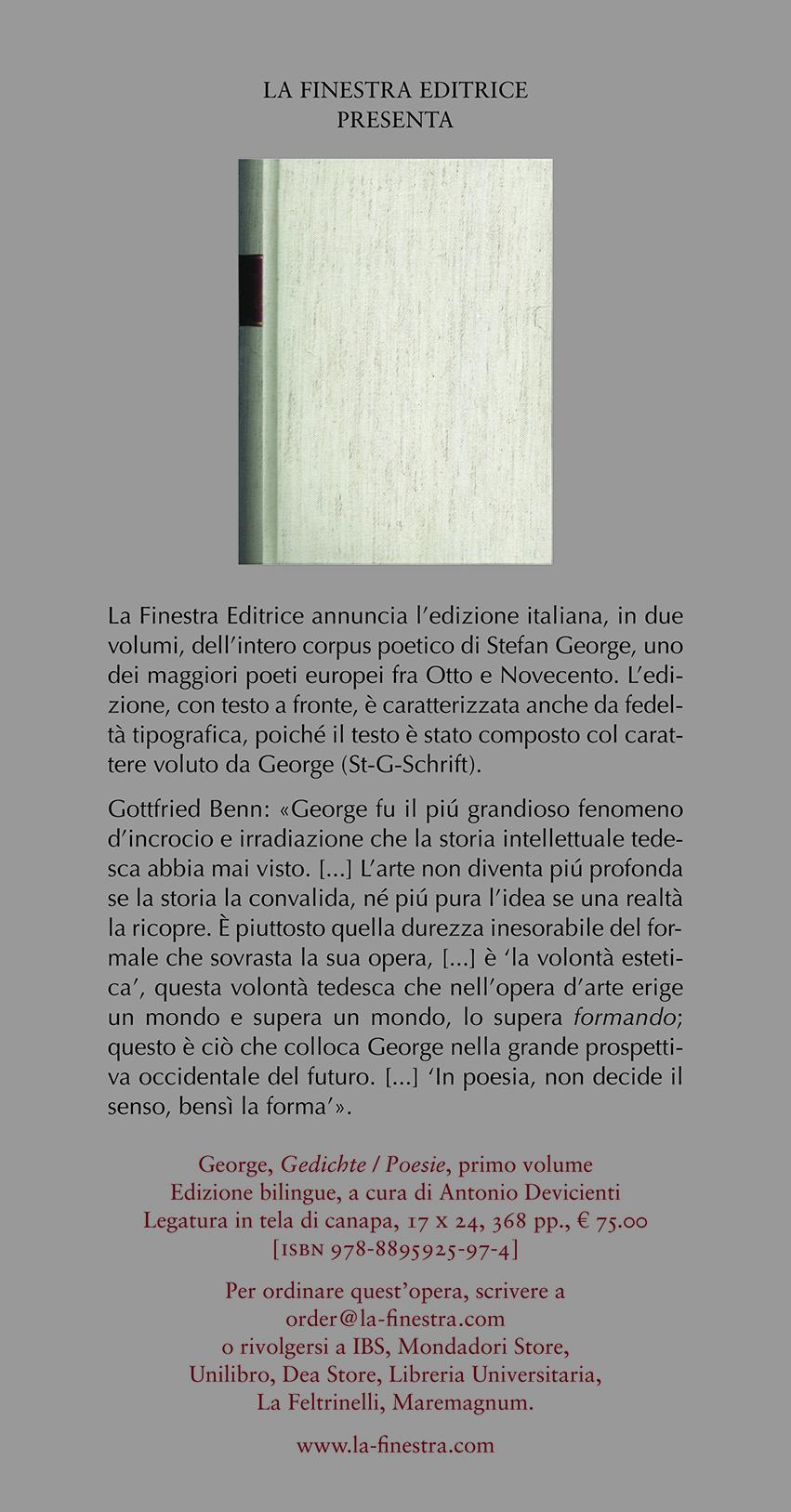Segnalibri Stefan George Gedichte Poesie Primo Volume
